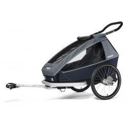 Croozer Kid Vaaya 1 Graphite Blu przyczepka rowerowa